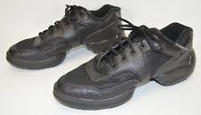 Bloch Theatricals Split Sole Sneaker Dance Shoes T8000 Black Lace-Up Women 10.5M