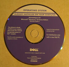 Microsoft Windows XP Home Reinstallation CD with SP2 For Dell PC