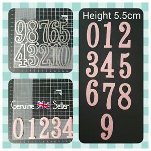 Metal Cutting Die Set - LARGE - 5.5cm NUMBERS 0-9 - Scrapbooking - Crafting