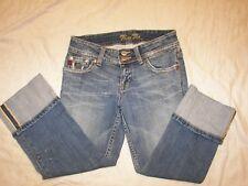 Miss Me  Distressed Capri Crop Jeans - Jrs. 26 - JP4222 - Camo Trim