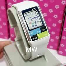 CASIO 50M WORLD TIME Kids Ladies White Resin Poptone LCD Digital Watch LDF-50-7