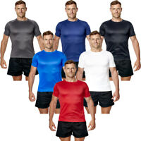 T Shirt Top Tee Gym Sport Fitness Running Premium Lightweight Active Wear Men