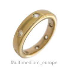 Pierre Lang Memory Ring massiv vergoldet Strass signiert gilt signed  🌺🌺🌺🌺🌺