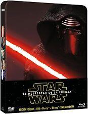 STAR WARS STEELBOOK - EL DESPERTAR DE LA FUERZA BLURAY+DVD 3 DISC EDIC. METÁLICA
