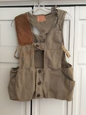 Vintage Bob Allen Gun Club Shooting Vest Beige Tan Size 36 Usa Grand Bahama Patc
