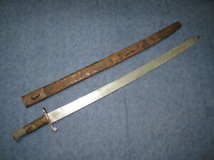 US Civil War British 1856 Navy Artillery Sword Bayonet Possibly Confederate