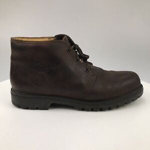 Mens 13.5 48 Havana Joe Brown Oiled Leather Chukka Boots Panama Jack 201-C