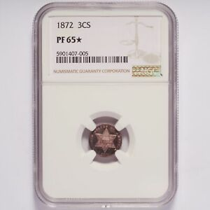 1872 Three-Cent Silver Proof NGC PF 65 Star