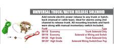 Accele 5912K Universal Trunk Hatch Release Solenoid Wiring Switch / Door Popper