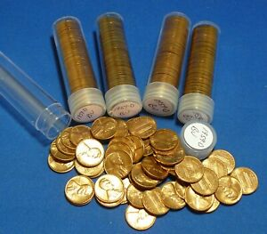 50 circulated but good condition Toned Lincoln Cent Lot 1959 To 2008 Pennies