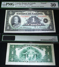 FRENCH 1935 $1 BANK OF CANADA PMG 30  portrait of King George V - GEORGEOUS NOTE