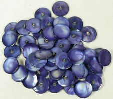 "LOT OF 48 7/8"" VINTAGE FRESH WATER PEARL BUTTONS WITH METAL SHANK"