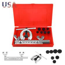 10PCS Metric 45 Double Single Tube Brake Line Flare Copper Flaring Tool Set US