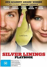 Silver Linings Playbook (DVD) ExRrental FreePost Bradley Cooper Jennifer Lawrenc