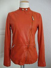 JUST CAVALLI GIACCA PELLE LADY Jacket Damen Lederjacke Gr.36 NEU mit ETIKETT