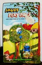 Old Swing Smurf Play Pals Wind Up Toy on Original Card