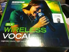 Shure BLX24/PG58 Hand-held Wireless Microphone System! UHF - H9 Frequency Range