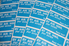 216 X Airmail air mail étiquettes stickers posting Royal Mail International Franking