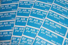 144 X POSTA AEREA AIR MAIL ETICHETTE ADESIVI-Free P+P