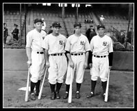 Gehrig Dimaggio Dickey Lazzeri Photo 8X10 - Yankees  Buy Any 2 Get 1 FREE