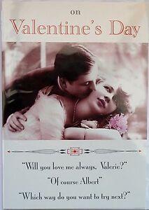 (309) Single Valentine Card - On Valentines Day - 1920's Photo (Size C)