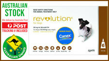 Revolution For Dogs 5.1-10kg 6 Pack BROWN w/Canex Tablets AUSPOST TRACKING INC.