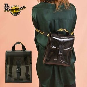 Dr. Martens Black Transparent Mini Backpack With Hardware AirWair Straps