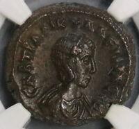 242 NGC Ch XF Tranquillina Egypt Alexandria Tetradrachm Athena Coin (18111302C)