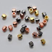 """3x3 und 4x4 mm Kleine Messing Zwischen-Perle Spacer /""""Würfel/"""" Bronze-Farben"""