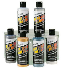 Auto Air Colors Airbrush Paints - 6 x 120ml Metallic Airbrush Paint Set