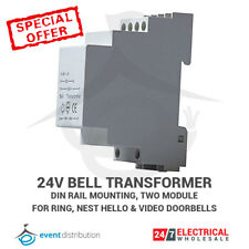 Bell Transformer Din Rail Mounted 24V For Nest Hello & Ring Door Bell Video Bell
