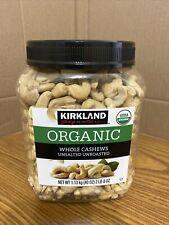 Kirkland Signature Organic Whole Cashews Unsalted Unroasted 40oz (1.13 Kg)