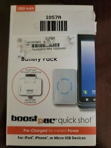 Qmadix Boost Pack Auxiliary Battery Pack for iPhone LG MOTO
