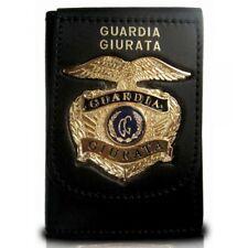 Portafoglio/Portadocumenti con Placca Color Oro per Guardia Giurata