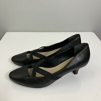 Supersoft by Diana Ferrari Size 9 Jinka Black Leather Court Shoe Point Pump #40