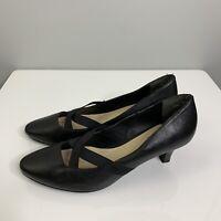 Supersoft by Diana Ferrari Size 9 Jinka Black Leather Court Shoe Point Pump #40