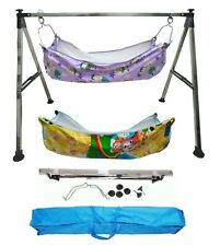 Smart Baby Products Square Pipe Steel Folding Baby Cradle KRT590