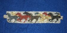 "Beaded Bracelet Running Horses Magnetic clasp 7"" L FREE SHIPPING New"