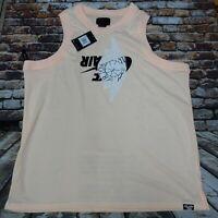 $70 NEW XXL 2XL Mens Nilke Air Jordan Jumpman Wings Mesh Jersey Pink BQ8479-814