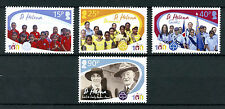 St Helena 2010 MNH Girlguiding Cent 4v Set Baden-Powell Scouts Scouting Stamps