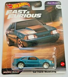 Hot Wheels '92 Ford Mustang Blue #2 Fast & Furious Fast Stars 2/5 Real Riders