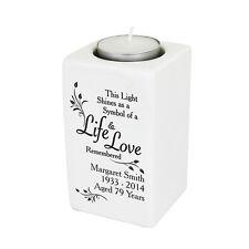 PERSONALISED REMEMBRANCE Memorial Bereavement Loving Memory Candle Holder