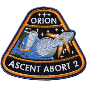 Official NASA ORION Ascent Abort 2 (AA-2) Flight Embroidered Patch