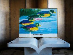 Beautiful large 1988 Walasse Ting offset poster print Modern Contemporary Art