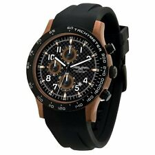 Jorg Gray Men's JG2000-11 Chronograph Black Dial Black Rubber Strap Watch