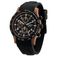 Jorg Gray Men's JG2000-11 Chronograph Black Dial Black Rubber Strap Watch