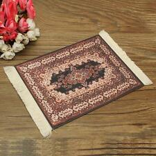 Persian/Oriental Style Minature Woven Rug Mouse Pad Carpet Mousemat W/ Fringe