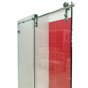 1050~1750mm Shower Screen Frameless Wall to Wall Sliding Door 10mm Thick Glass