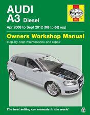 5912 Haynes Audi A3 Diesel (Apr 2008 - Sept 2012) 08 to 62 Workshop Manual