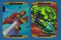 HULK and IRON MAN Die-Cut Cards | 2008 Marvel Masterpieces 2  #Iron Man A #HulkA